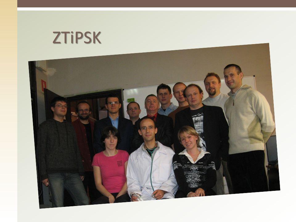 ZTiPSK Większość przedmiotów prowadzą i realizują pracownicy z Zespołu Teorii i Projektowania Systemów Komputerowych.