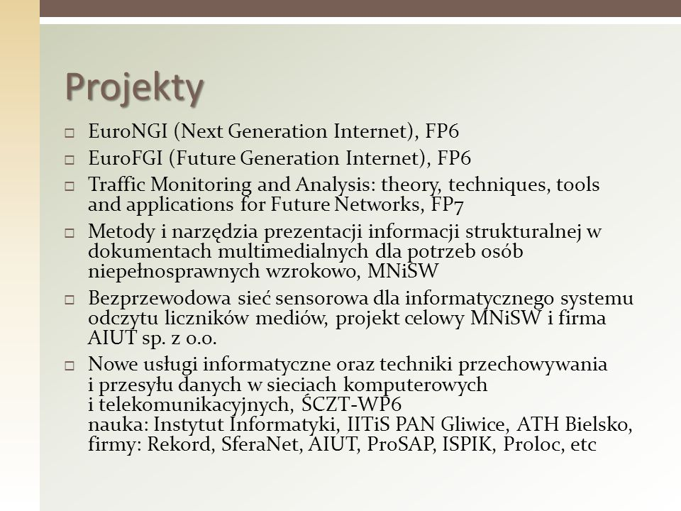 Projekty EuroNGI (Next Generation Internet), FP6