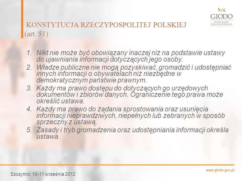 KONSTYTUCJA RZECZYPOSPOLITEJ POLSKIEJ (art. 51)