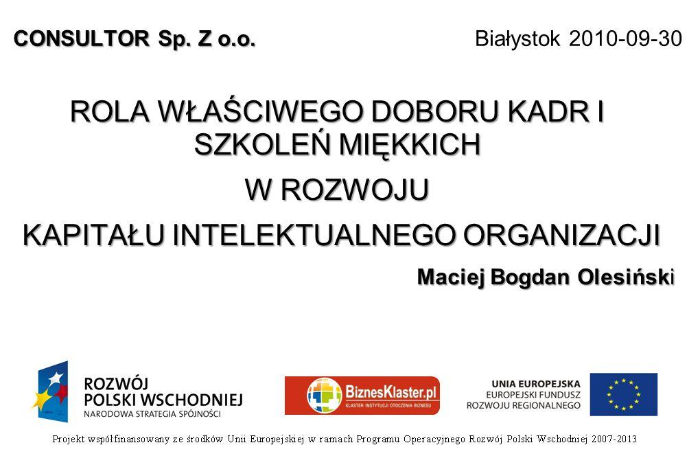 CONSULTOR Sp. Z o.o. Białystok 2010-09-30