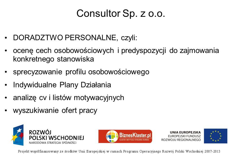Consultor Sp. z o.o. DORADZTWO PERSONALNE, czyli: