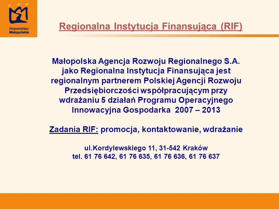 Regionalna Instytucja Finansująca (RIF)