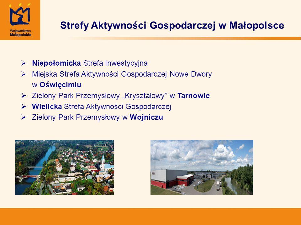 Strefy Aktywności Gospodarczej w Małopolsce