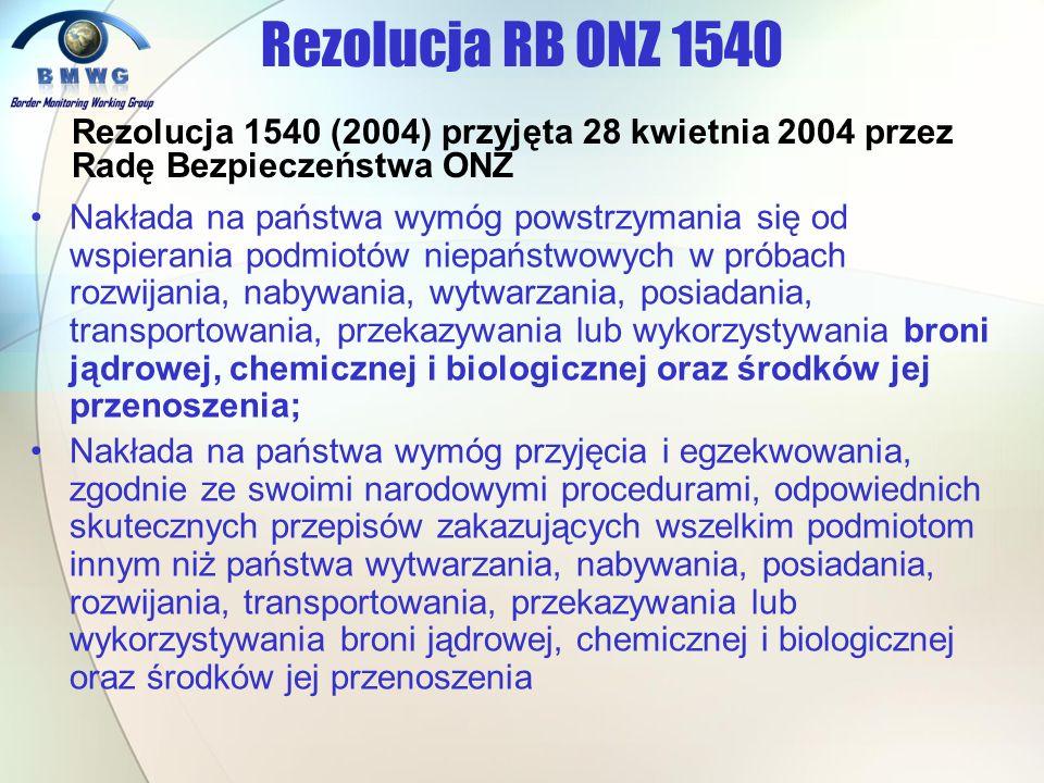 Rezolucja RB ONZ 1540 Rezolucja 1540 (2004) przyjęta 28 kwietnia 2004 przez Radę Bezpieczeństwa ONZ.