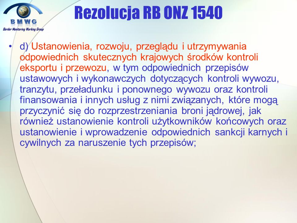 Rezolucja RB ONZ 1540
