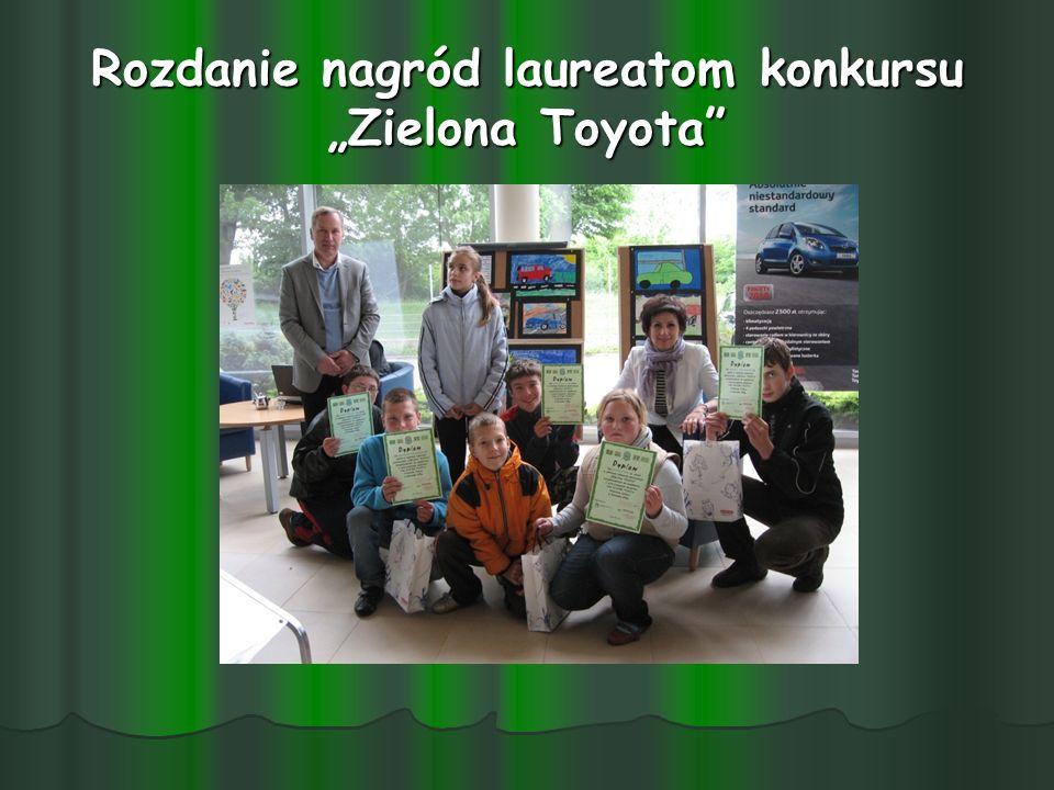 """Rozdanie nagród laureatom konkursu """"Zielona Toyota"""