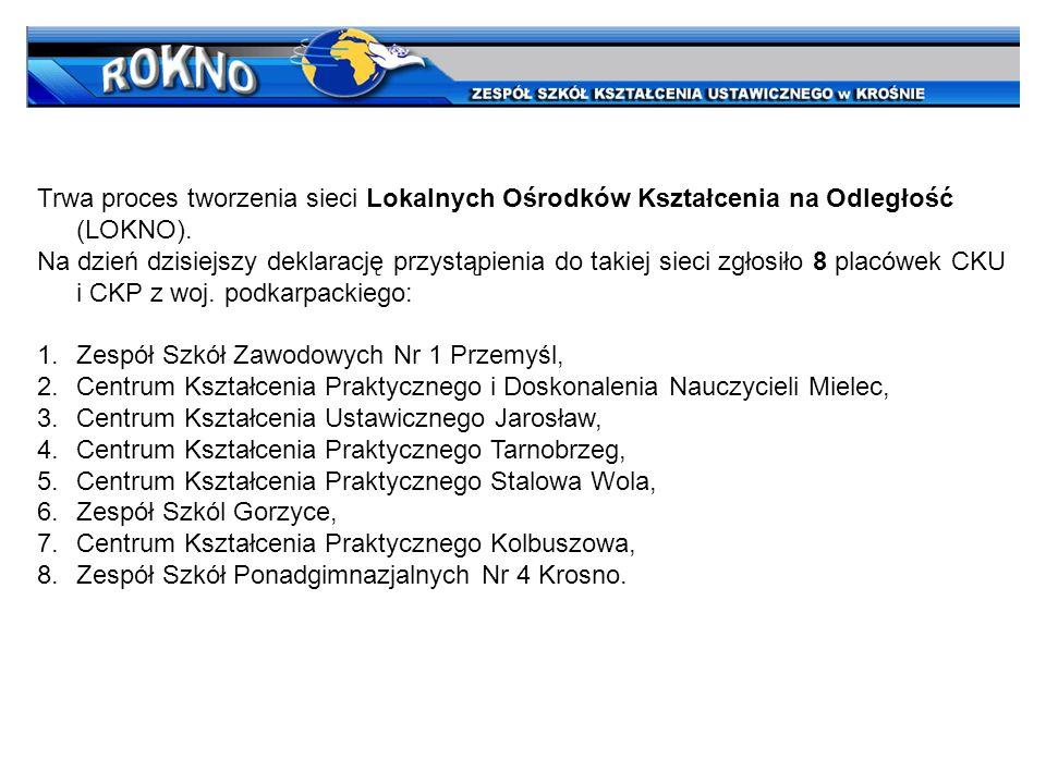 Trwa proces tworzenia sieci Lokalnych Ośrodków Kształcenia na Odległość (LOKNO).