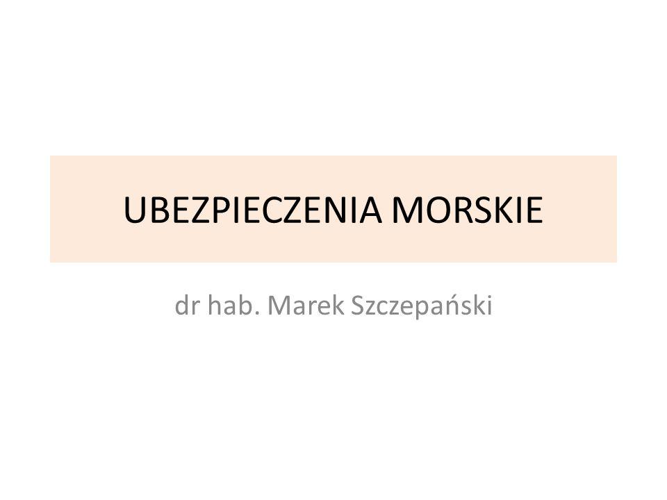 UBEZPIECZENIA MORSKIE