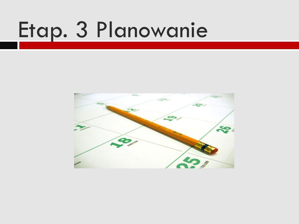 Etap. 3 Planowanie
