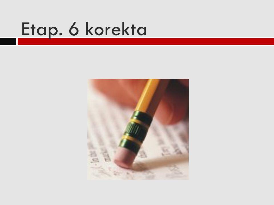 Etap. 6 korekta