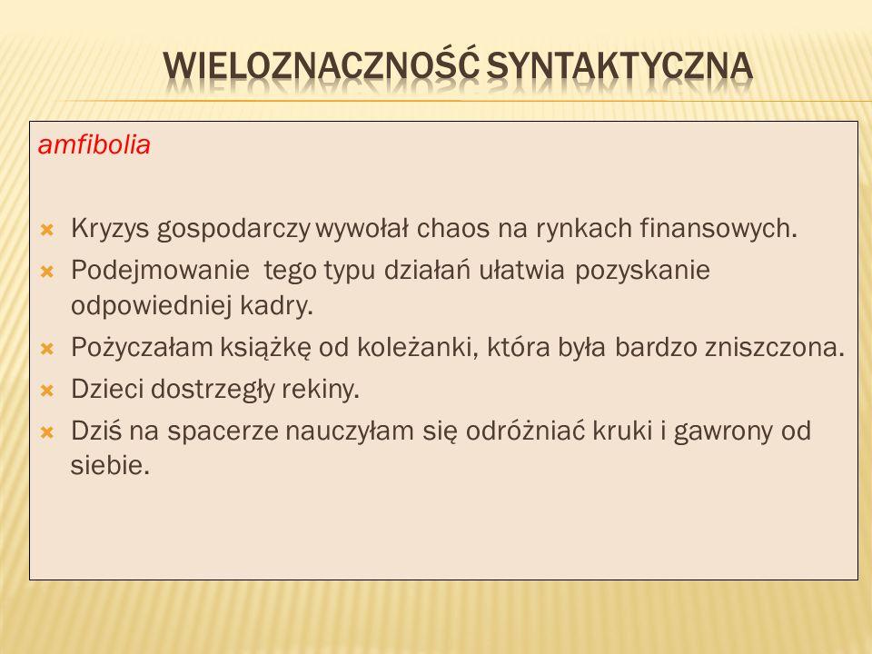 wieloznaczność syntaktyczna