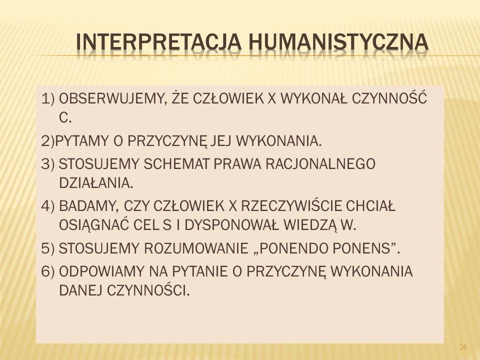 INTERPRETACJA HUMANISTYCZNA
