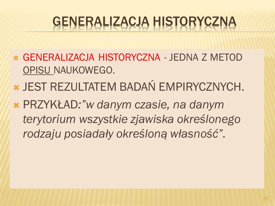 GENERALIZACJA HISTORYCZNA