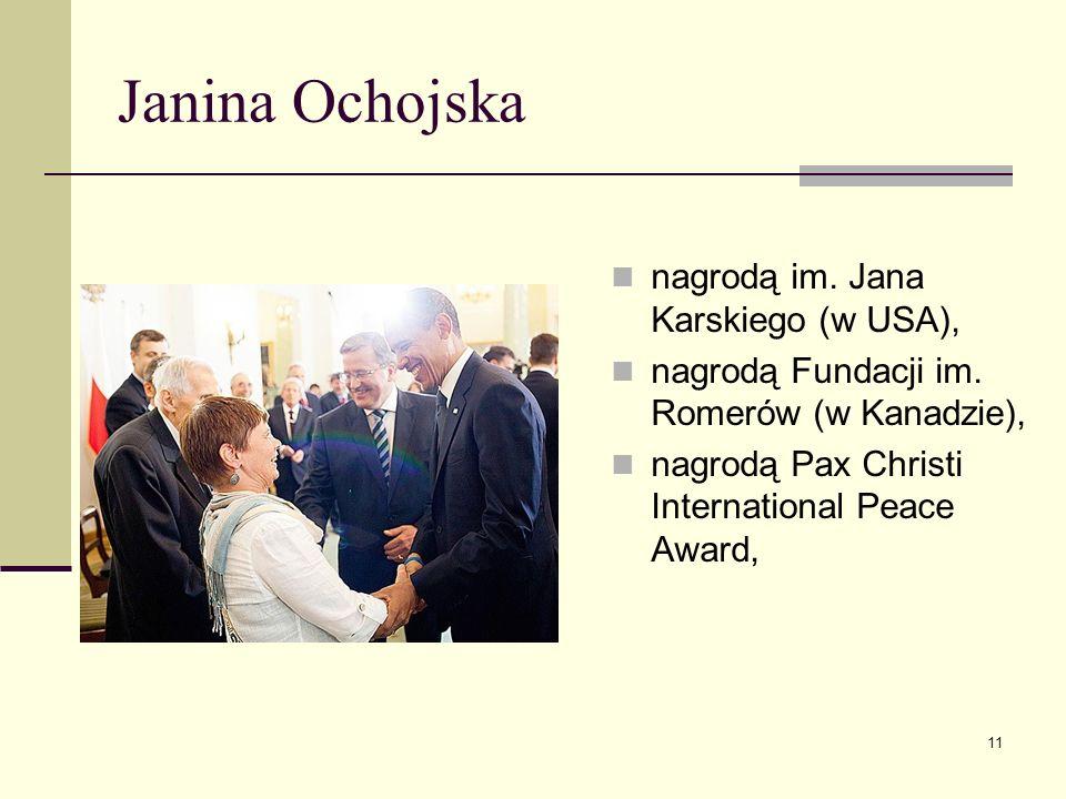 Janina Ochojska nagrodą im. Jana Karskiego (w USA),