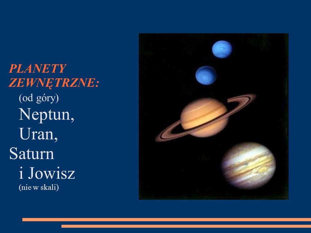 Saturn i Jowisz (nie w skali)