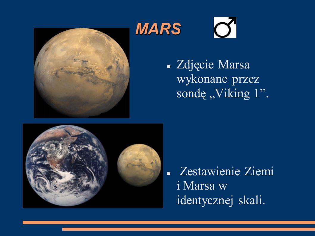"""MARS Zdjęcie Marsa wykonane przez sondę """"Viking 1 ."""
