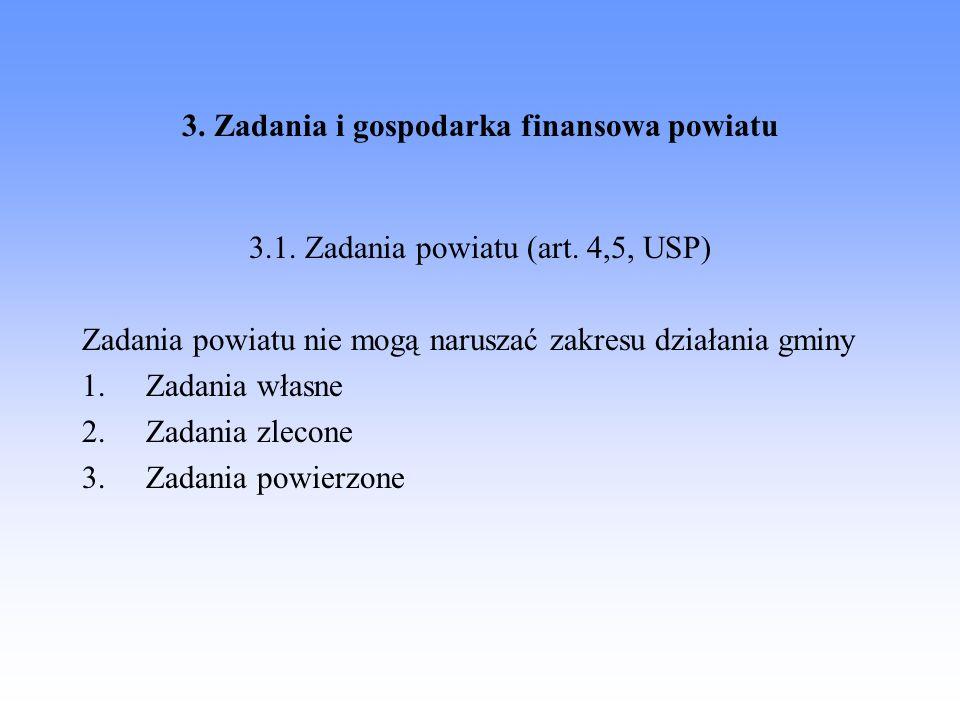 3. Zadania i gospodarka finansowa powiatu