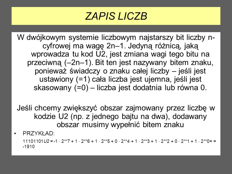 ZAPIS LICZB