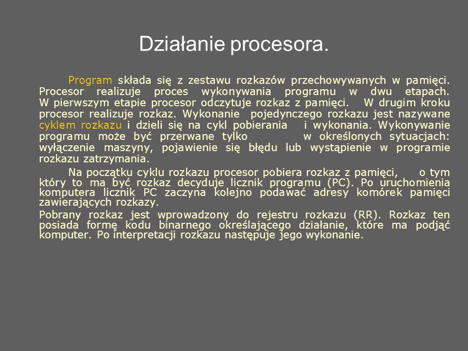 Działanie procesora.