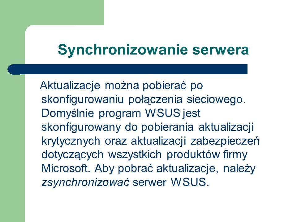 Synchronizowanie serwera