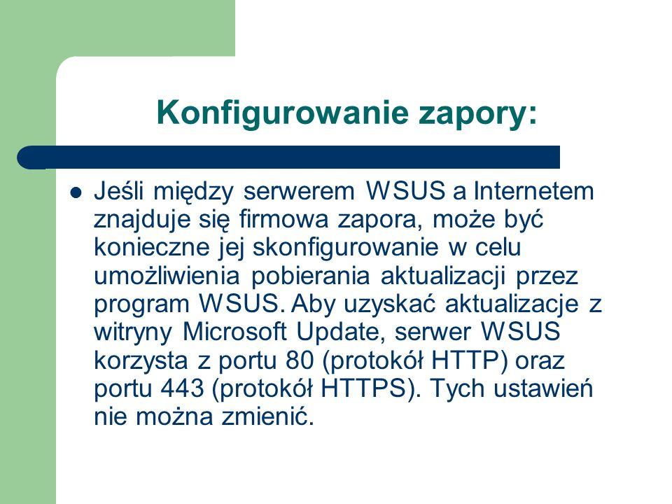 Konfigurowanie zapory: