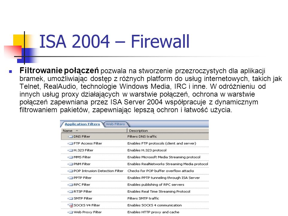 ISA 2004 – Firewall