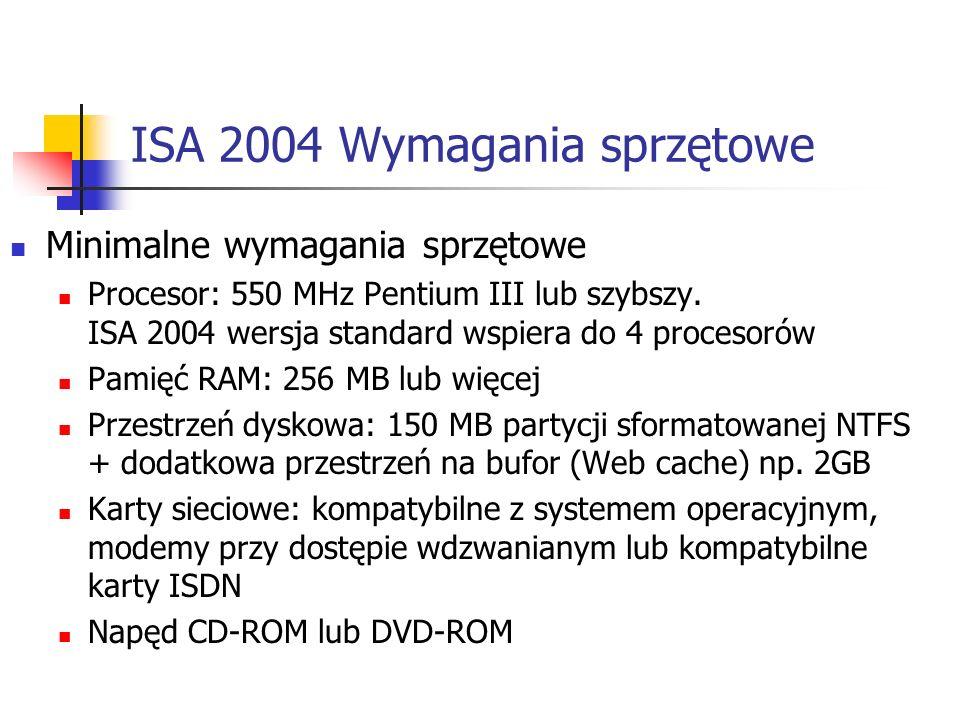 ISA 2004 Wymagania sprzętowe