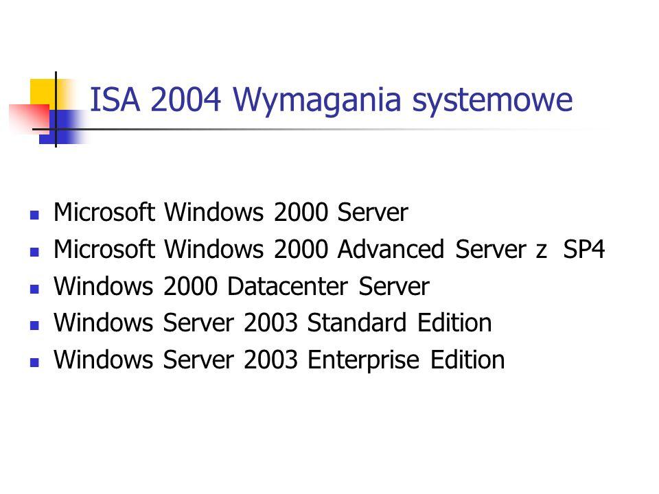 ISA 2004 Wymagania systemowe