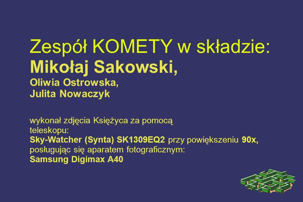 Zespół KOMETY w składzie: