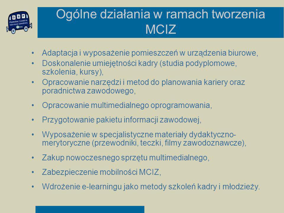 Ogólne działania w ramach tworzenia MCIZ