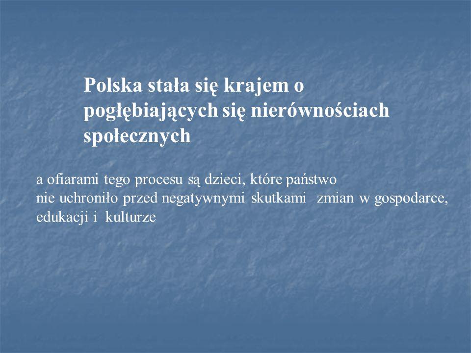 Polska stała się krajem o pogłębiających się nierównościach społecznych