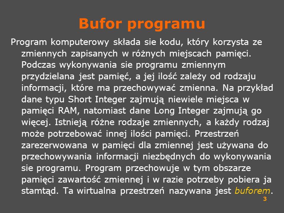 Bufor programu