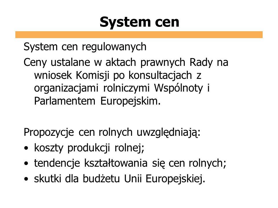 System cen System cen regulowanych