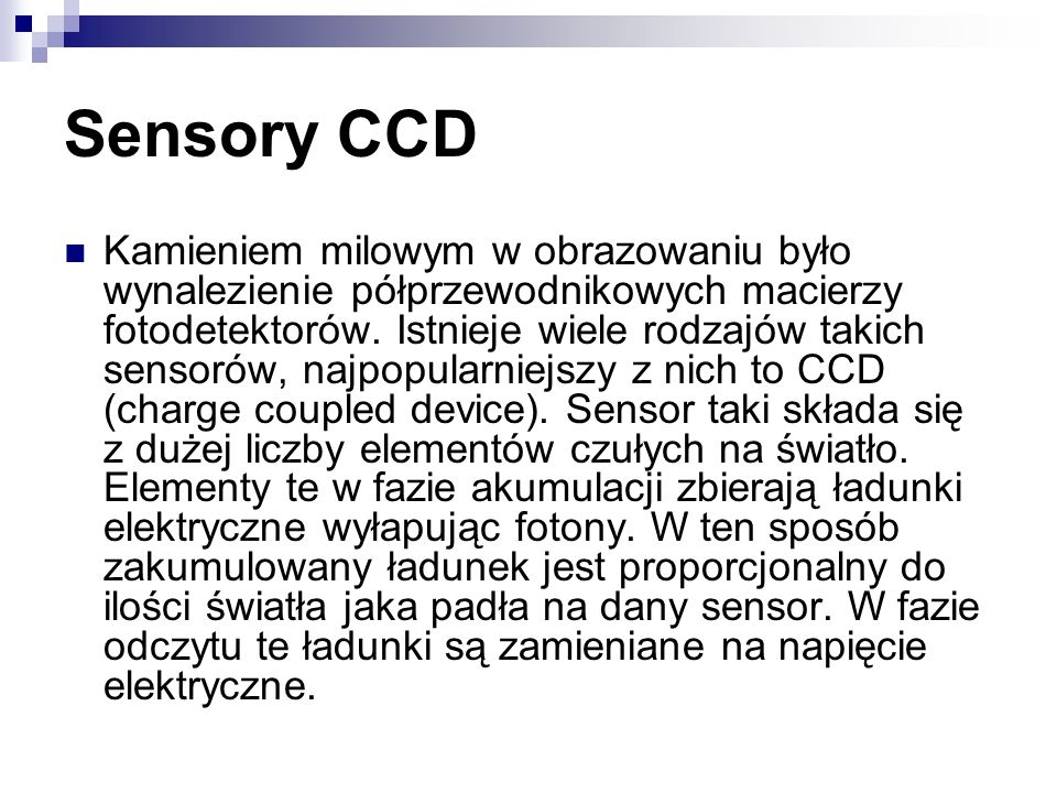 Sensory CCD