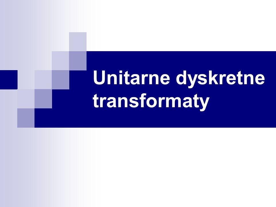 Unitarne dyskretne transformaty