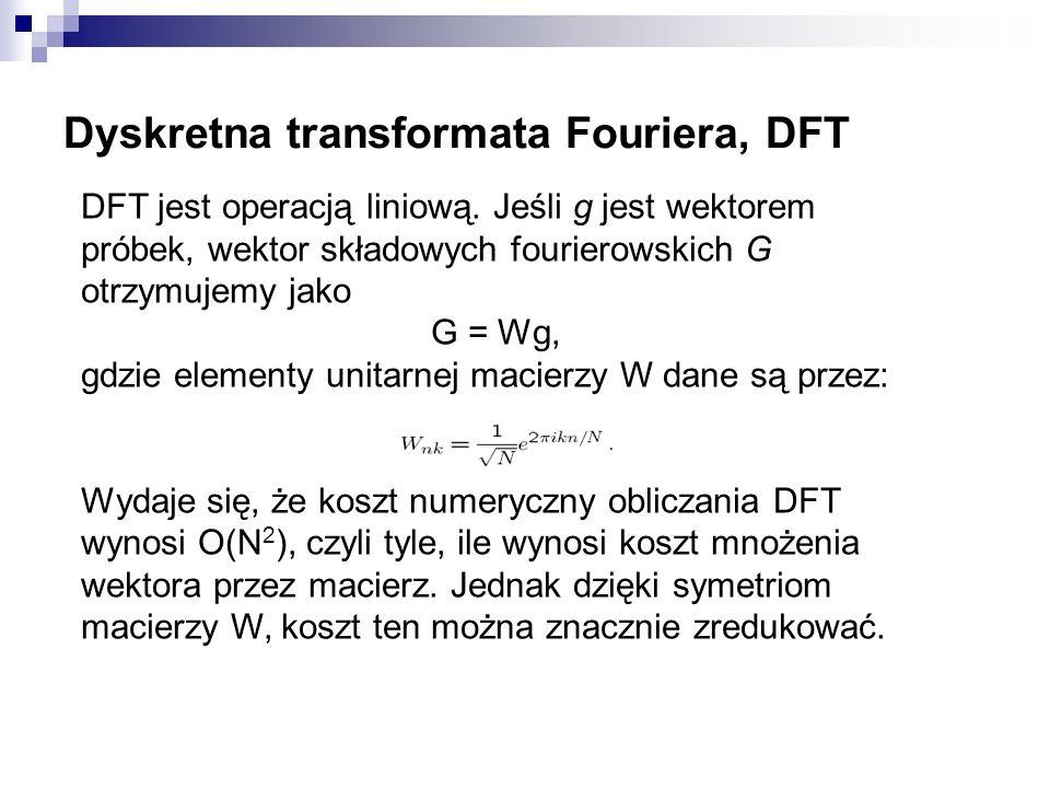 Dyskretna transformata Fouriera, DFT