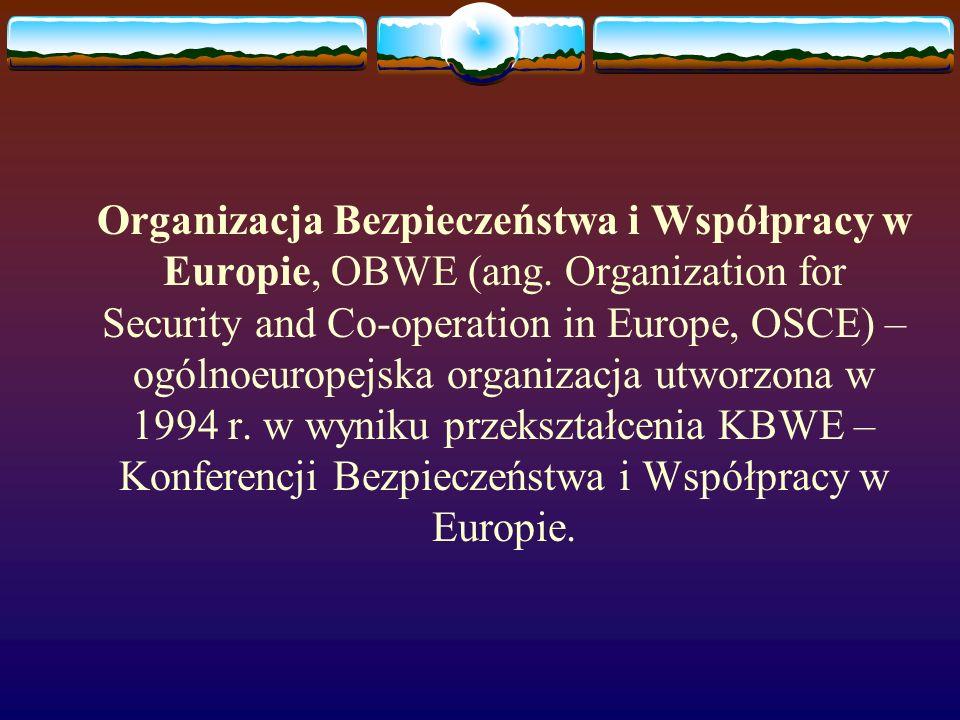 Organizacja Bezpieczeństwa i Współpracy w Europie, OBWE (ang