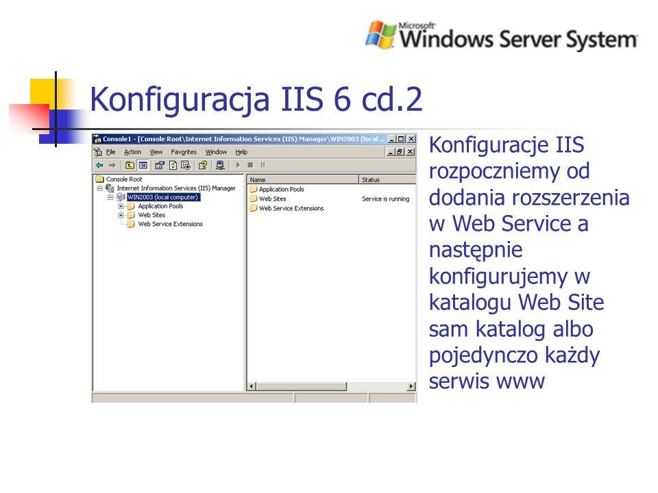 Konfiguracja IIS 6 cd.2