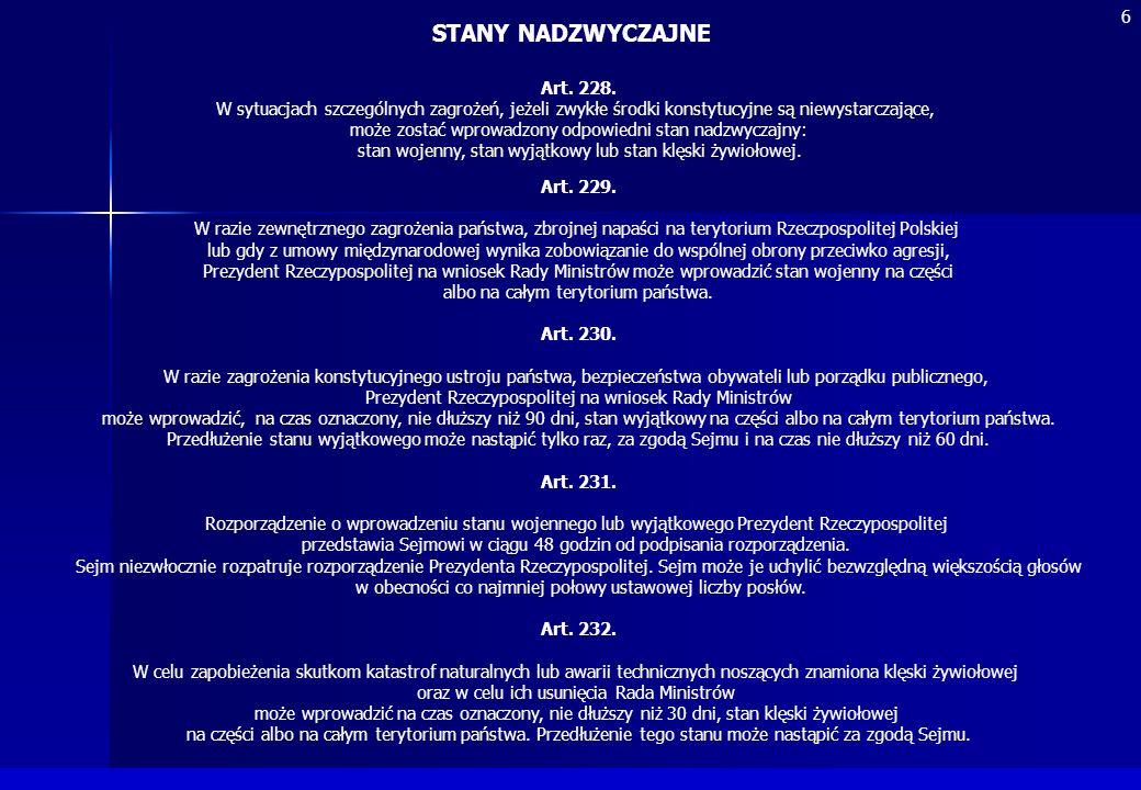 STANY NADZWYCZAJNE 6 Art. 228.