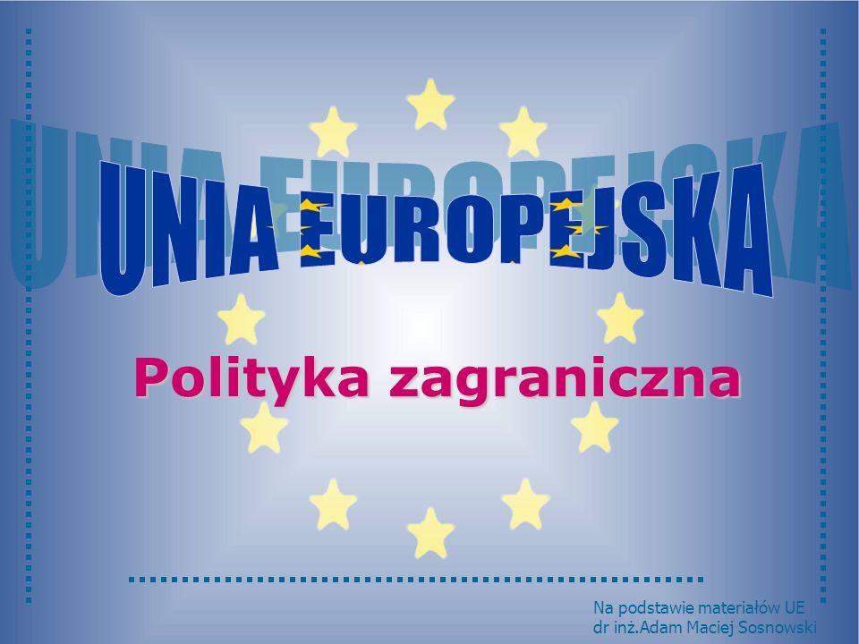 Polityka zagraniczna UNIA EUROPEJSKA Na podstawie materiałów UE