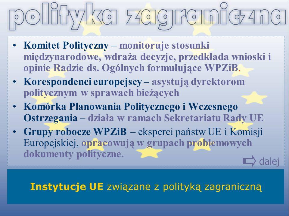 Instytucje UE związane z polityką zagraniczną