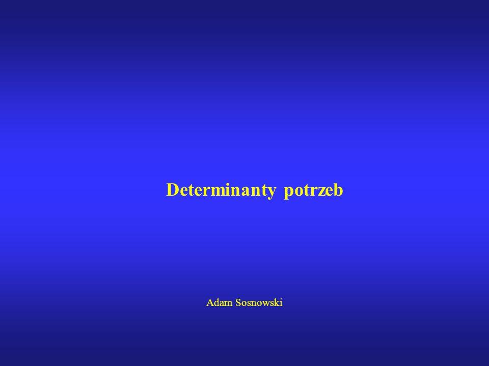 Determinanty potrzeb Adam Sosnowski
