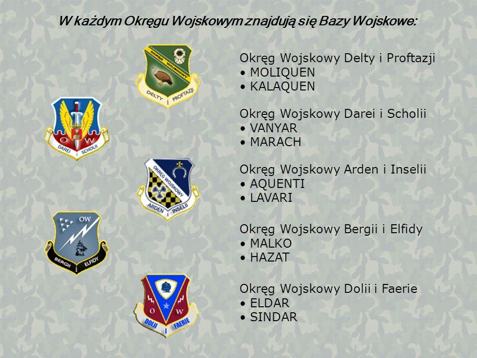 W każdym Okręgu Wojskowym znajdują się Bazy Wojskowe: