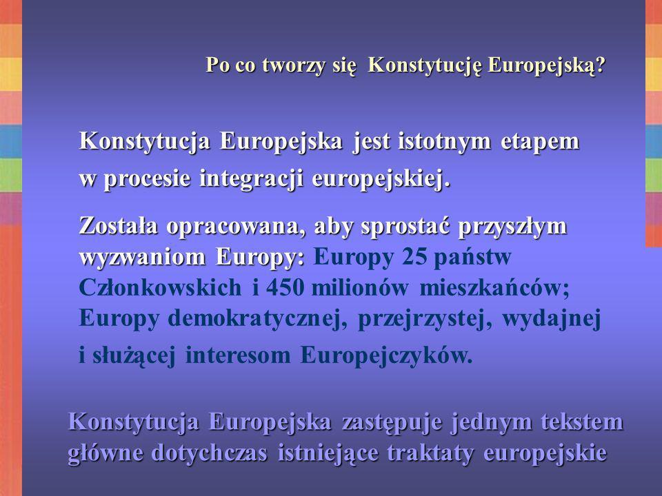 Konstytucja Europejska jest istotnym etapem
