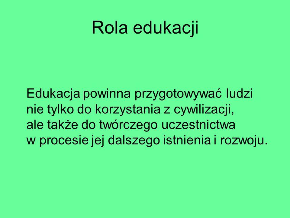 Rola edukacji