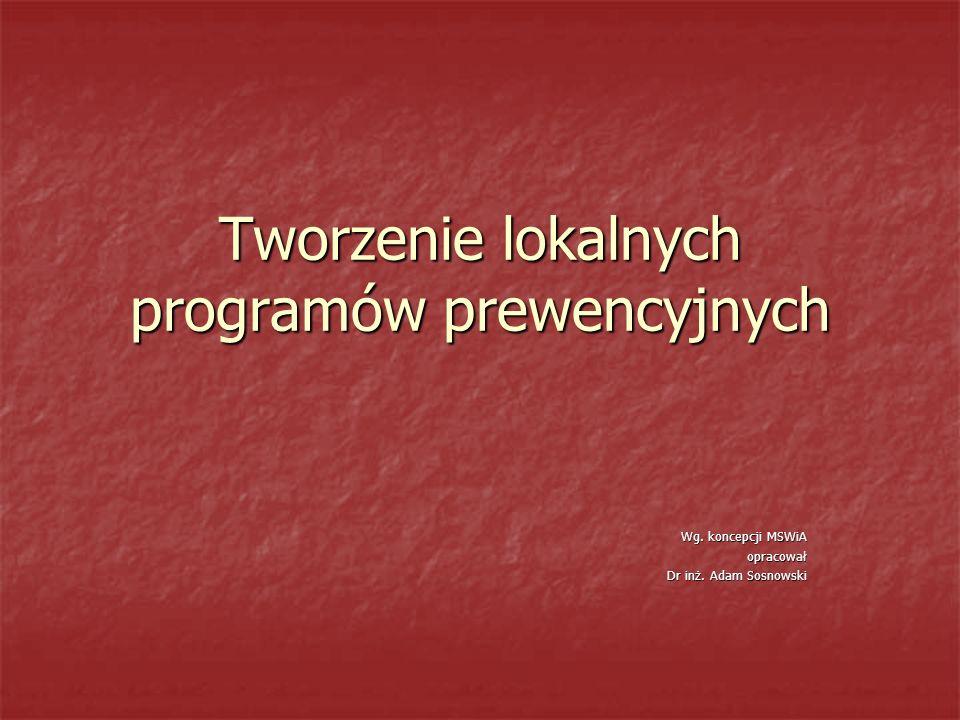 Tworzenie lokalnych programów prewencyjnych