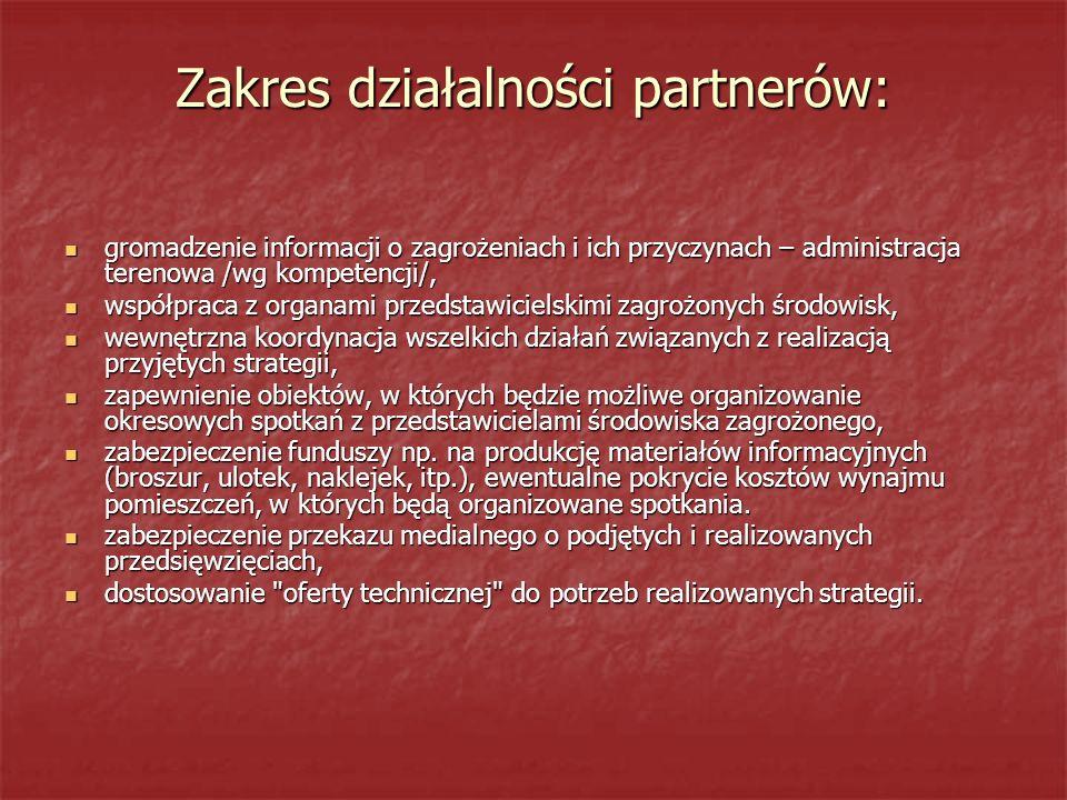 Zakres działalności partnerów: