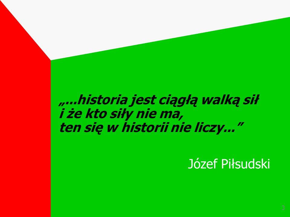 """""""...historia jest ciągłą walką sił i że kto siły nie ma, ten się w historii nie liczy..."""