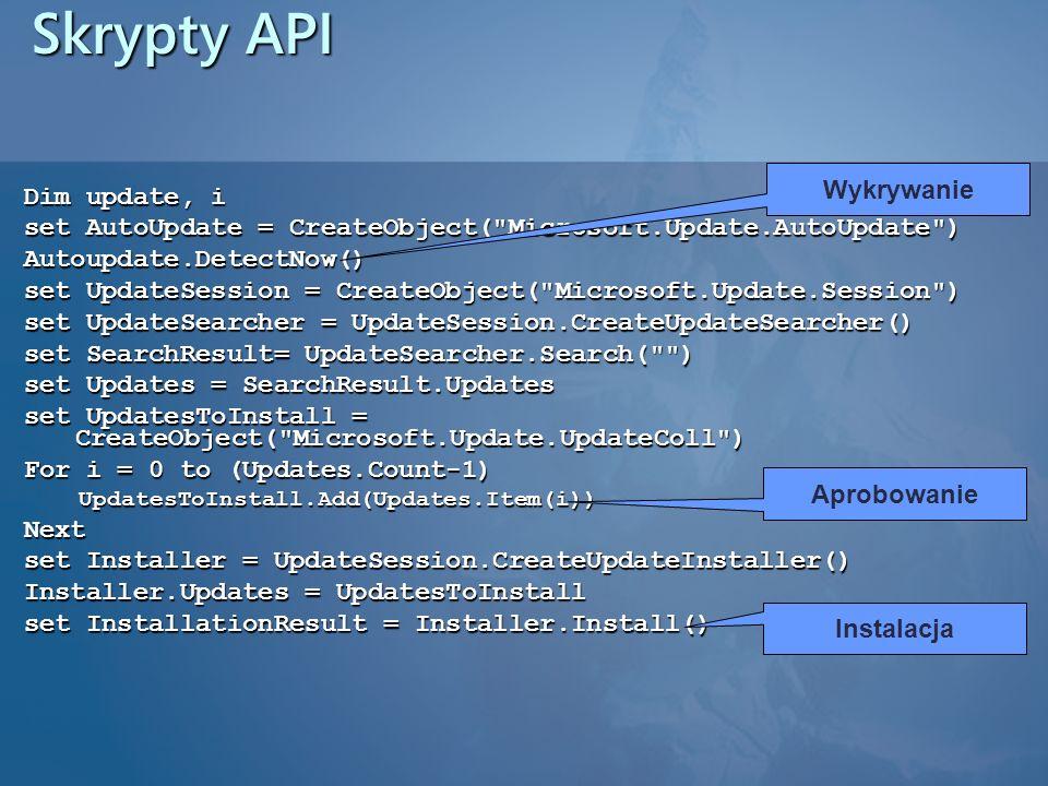 Skrypty API Wykrywanie Dim update, i