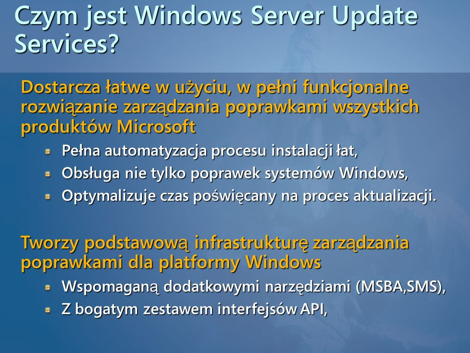 Czym jest Windows Server Update Services